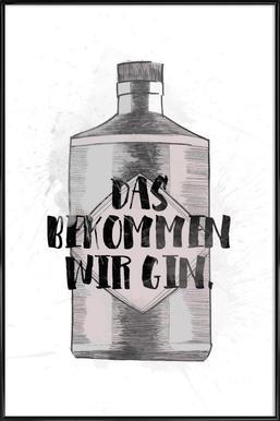 Gin ingelijste poster