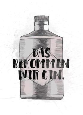 Gin -Leinwandbild
