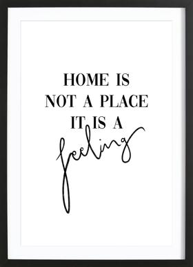 Home Is a Feeling Framed Print
