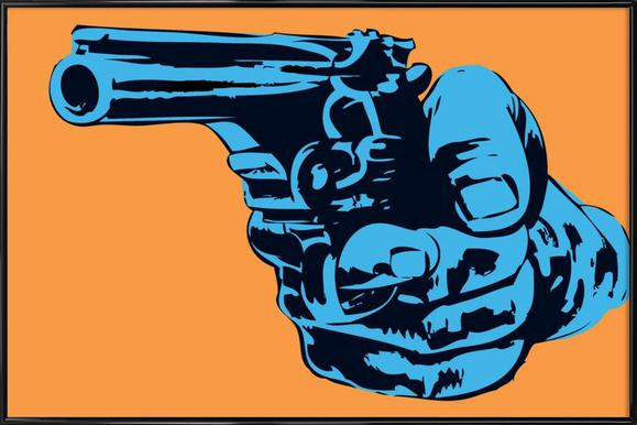 Gun 4 - Poster in Standard Frame