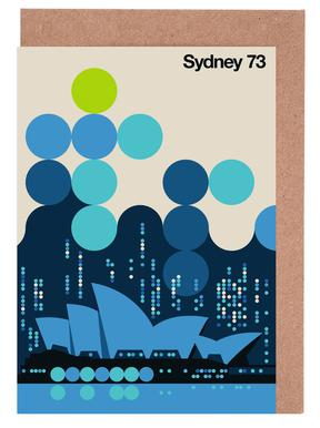 Sydney 73 Blue Greeting Card Set