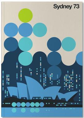 Sydney 73 Blue Notebook