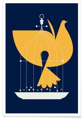 Fin Birdcage Poster