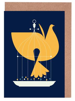 Fin Birdcage Greeting Card Set