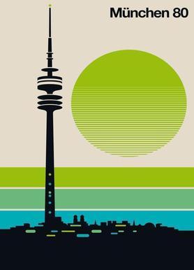 München 80 -Leinwandbild