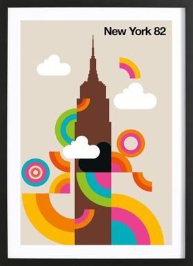 New York 82 - Poster in Wooden Frame