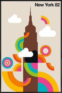 New York 82 ingelijste poster