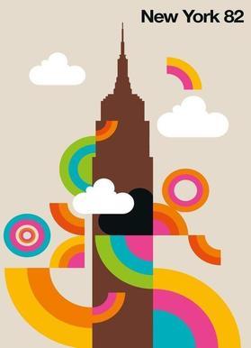 New York 82 canvas doek