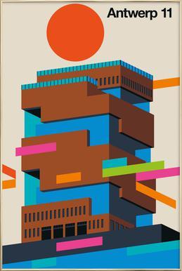 Antwerp 11 Poster in Aluminium Frame
