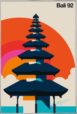 Bali 92 Poster in Aluminium Frame