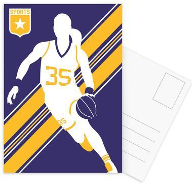 Basketball 3 Postcard Set