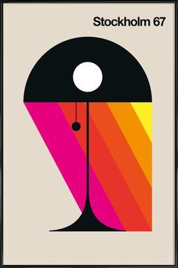 Stockholm 67 - Poster in kunststof lijst