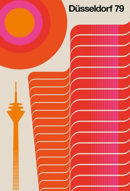 Düsseldorf 79 Impression sur alu-Dibond