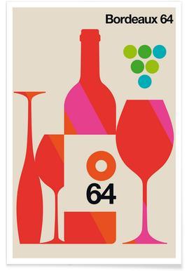 Vintage Bordeaux poster