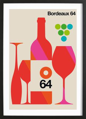 Bordeaux ingelijste print