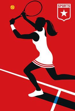 Tennis -Alubild