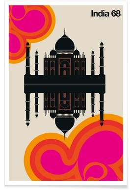 Vintage India 68 Poster