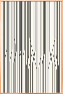 Birch -Poster im Alurahmen