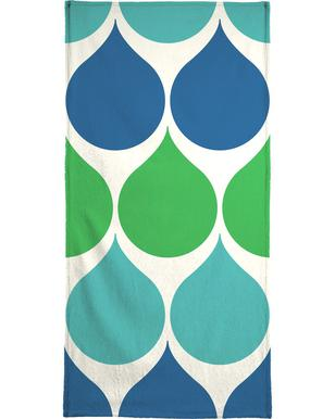 Raindrops Beach Towel