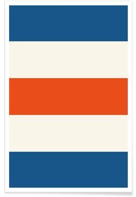Blue and Orange Stripes Poster