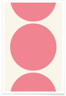 Pink Moon Circles Poster