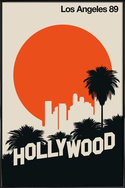 Los Angeles 89 ingelijste poster