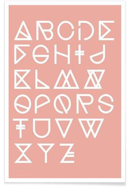 Geometrical ABC - blush