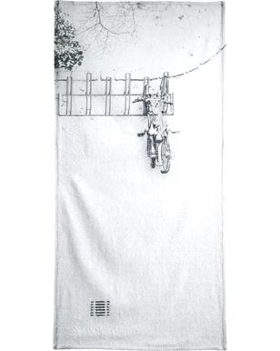 Winter White Bikes Beach Towel