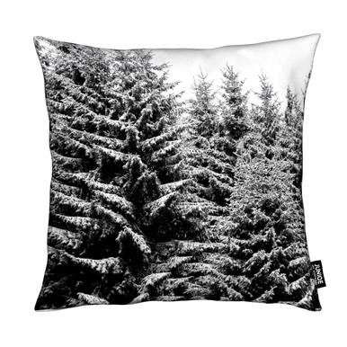 Snowy Christmas Trees coussin