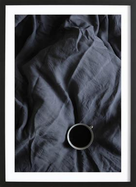 Coffee Time In Bed- Me & You - Affiche sous cadre en bois