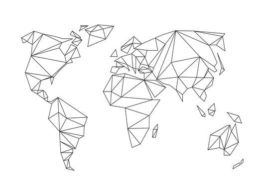 Geometrical World - white Poster | JUNIQE