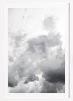 Head In The Clouds - Poster im Holzrahmen