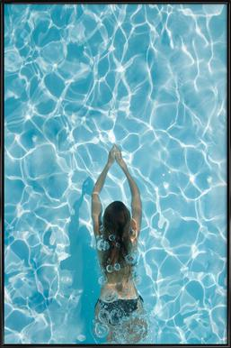 Liquid LOVE -Bild mit Kunststoffrahmen