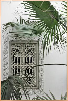 Orient Garden Dreams -Poster im Alurahmen