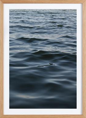 Feet In The Water - Poster in Wooden Frame