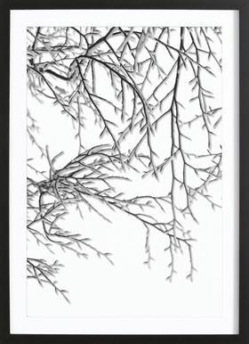 Snowy Days affiche sous cadre en bois