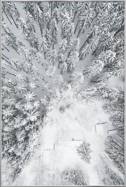 Calm Winter Poster in Aluminium Frame