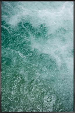 Glacier Water affiche encadrée