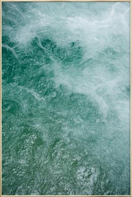 Glacier Water Poster in Aluminium Frame