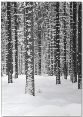 Deep Dark White Forest Notebook