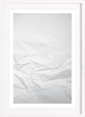 Paper Landscape - Poster in houten lijst