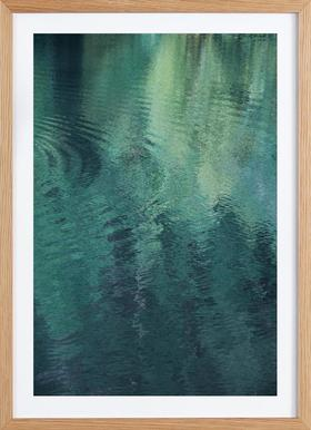 Forest In The Lake - Poster in Wooden Frame