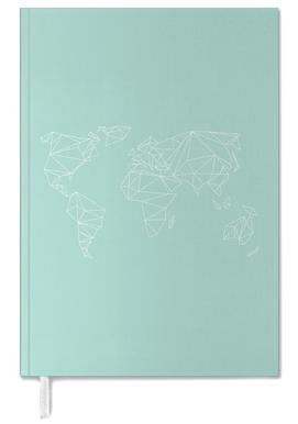 Geometrical World Green Personal Planner