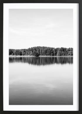 Calm Water - Poster in Wooden Frame