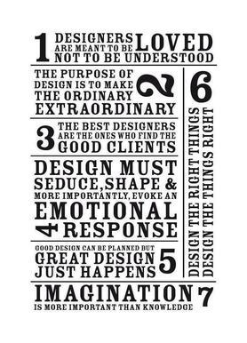 7 Rules Canvas Print