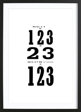 123 -Bild mit Holzrahmen