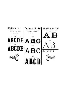 ABCD -Leinwandbild