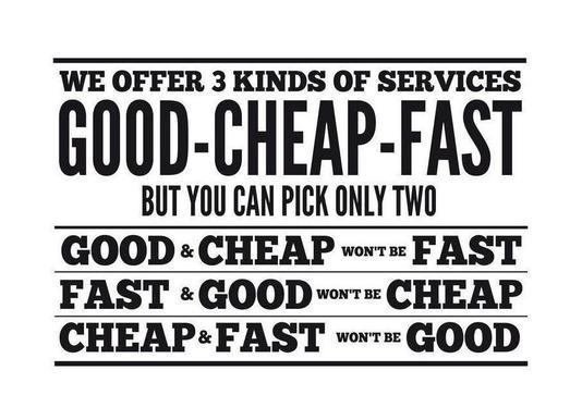 Good Cheap Fast Canvas Print