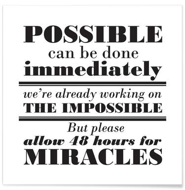 Possible Impossible Miracles