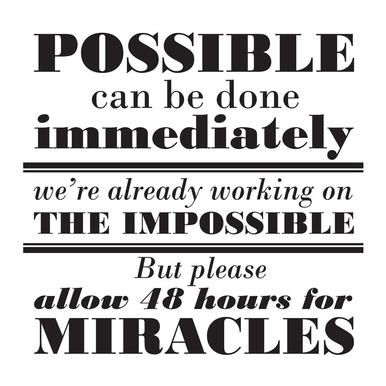Possible Impossible Miracles Acrylic Print